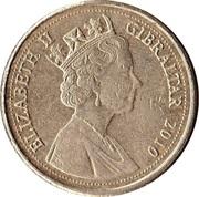 1 Pound - Elizabeth II (Neanderthal Skull - Type 1) -  obverse