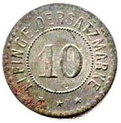10 Pfennig - Giessen – reverse