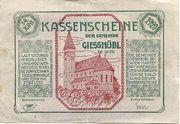 95 Heller (Giesshübl) – obverse