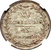 15 Schillings / 45 Rappen – reverse