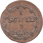 1 Schilling / 3 Rappen – reverse