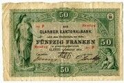 50 Francs (Glarner Kantonalbank) -  obverse