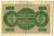 50 Francs (Glarner Kantonalbank) -  reverse