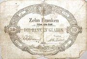 10 Francs (Bank in Glarus) – obverse