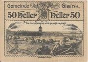50 Heller (Gleink) -  obverse