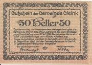 50 Heller (Gleink) -  reverse