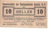 10 Heller (Gmünd) -  obverse