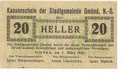 20 Heller (Gmünd) – obverse