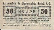 50 Heller (Gmünd) – obverse