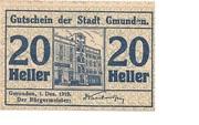 20 Heller (Gmunden) -  obverse