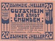 20 Heller (Gmunden) -  reverse