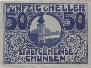 50 Heller (Gmunden) -  obverse