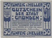 50 Heller (Gmunden) -  reverse