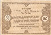 50 Heller (Göttweig) – reverse