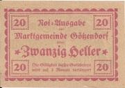 20 Heller (Götzendorf) – reverse