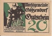 20 Heller (Götzendorf) – obverse