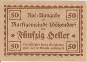 50 Heller (Götzendorf) – reverse