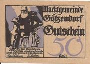 50 Heller (Götzendorf) – obverse