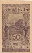 50 Heller (Goisern) – obverse