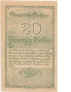 20 Heller (Goisern) – reverse