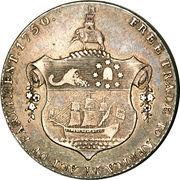 ½ Ackey - George III – reverse