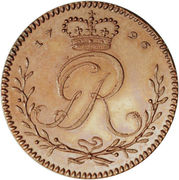 1 Tackoe - George III (Pattern strike) – obverse