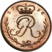 ¼ Ackey - George III (Trial Strike) – obverse