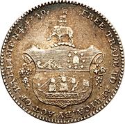 ¼ Ackey - George III – reverse