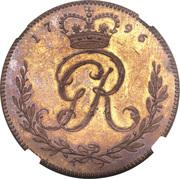 1 Ackey - George III – obverse