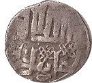 """Dirham """"Dang"""" - Jani Beg Khan - 1342-1357 AD (Saray al-Jadida mint) – reverse"""