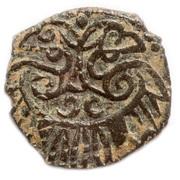 "Pul ""two-headed eagle type"" - Jani Beg Khan (Saray al-Jadida mint) – reverse"