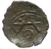 "Pul ""Hexagram with a circle inside type"" temp. Muhammad Öz Beg Khan (Qrim mint) – obverse"
