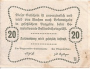 20 Heller (Goldwörth) -  reverse