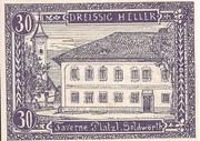 30 Heller (Goldwörth) -  obverse