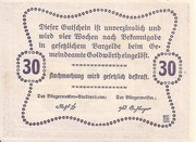 30 Heller (Goldwörth) -  reverse