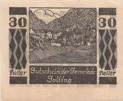30 Heller (Golling) – obverse