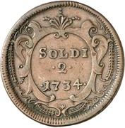 2 Soldi - Carl VI – reverse