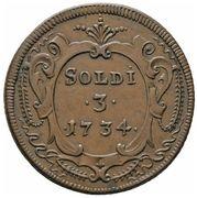 3 Soldi - Carlo VI -  reverse
