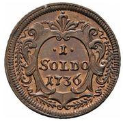 1 Soldo - Carlo VI – reverse