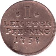 1 Leichter Pfennig – reverse