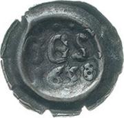 1 Pfennig (Hohlpfennig; Straubenpfennig) – obverse