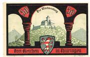 50 Pfennig (Wachsenburg-Komitee) – reverse
