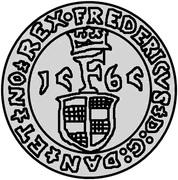 1 Sølvmønt - Frederik II (Visby) – obverse