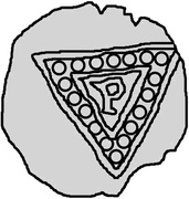 1 Penning (Visby) – reverse