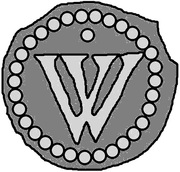 1 Penning (Visby; dot above) – obverse