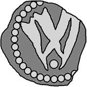 1 Penning (Visby; dot below) -  obverse
