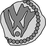 1 Penning (Visby; dot below) – reverse