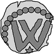 1 Penning (Visby; star below) -  obverse