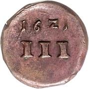 1 Dreier (Kipper) – reverse