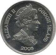 1 Crown - Elizabeth II (VE Day) – obverse